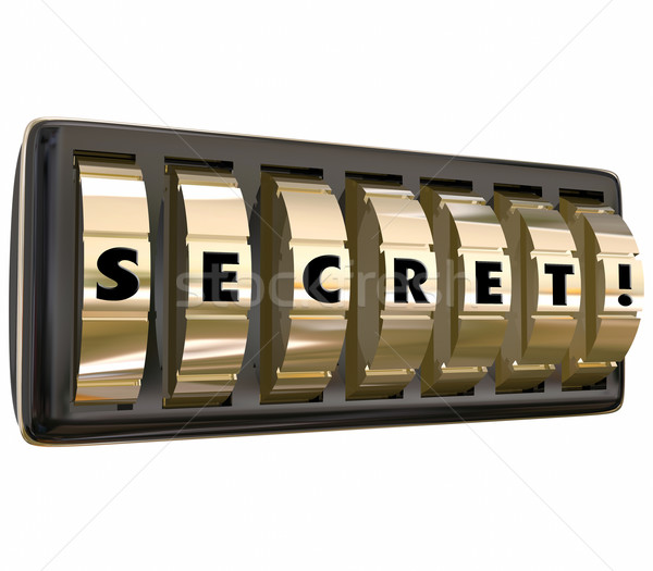 Secret Lock Dials Unlocking Password Confidential Protected Info Stock photo © iqoncept