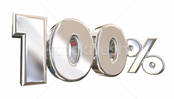 100 Percent One Hundred Full Amount Number 3d Animation Stock photo © iqoncept