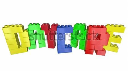 álom építőkockák szó levelek 3d illusztráció oktatás Stock fotó © iqoncept
