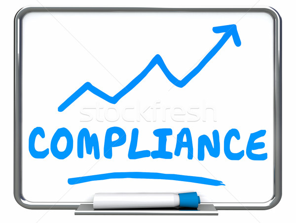 Compliance Rising Arrow Up Increase Improve Erase Board 3d Illus Stock photo © iqoncept
