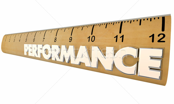 Performance Ruler Measurement Results Word 3d Illustration Stock photo © iqoncept