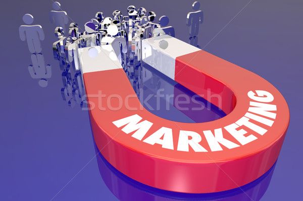 Marketing aimant nouvelle clientèle 3d illustration Photo stock © iqoncept