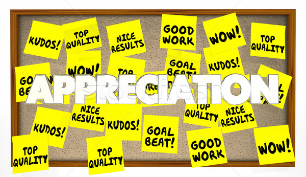 Appreciation Praise Thanks Recognition Notes 3d Illustration Stock photo © iqoncept