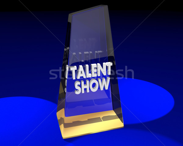 Talent Show Award Prize Trophy First Place 3d Illustration Stock photo © iqoncept