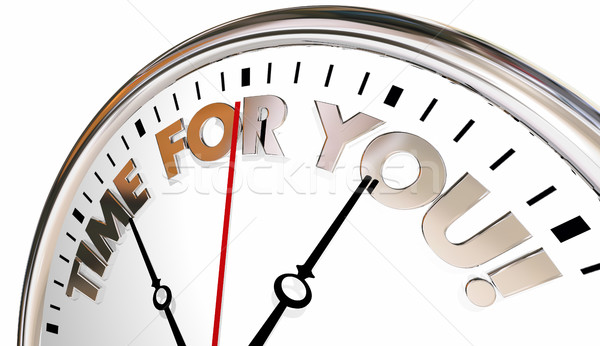 Time for You Clock Enjoy Life Your Moment Now 3d Illustration Stock photo © iqoncept