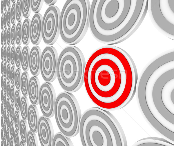 One Red Bulls-Eye Target - Niche Market Audience Stock photo © iqoncept