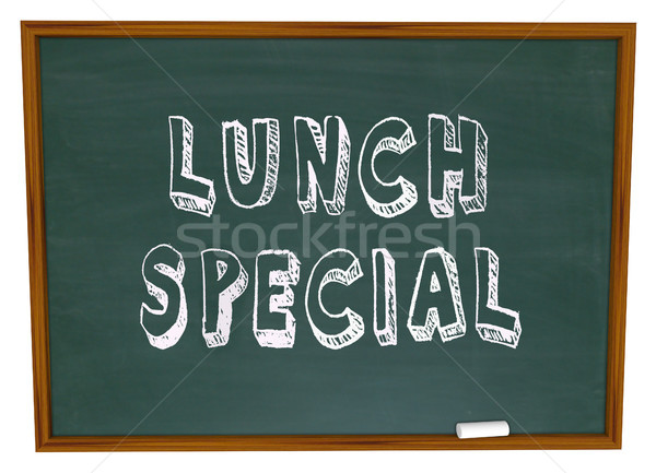 Lunch Special - Words on Restaurant Chalkboard Advertising Stock photo © iqoncept