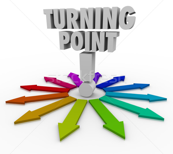 Turning Point Colorful Arrows Important Paths Stock photo © iqoncept