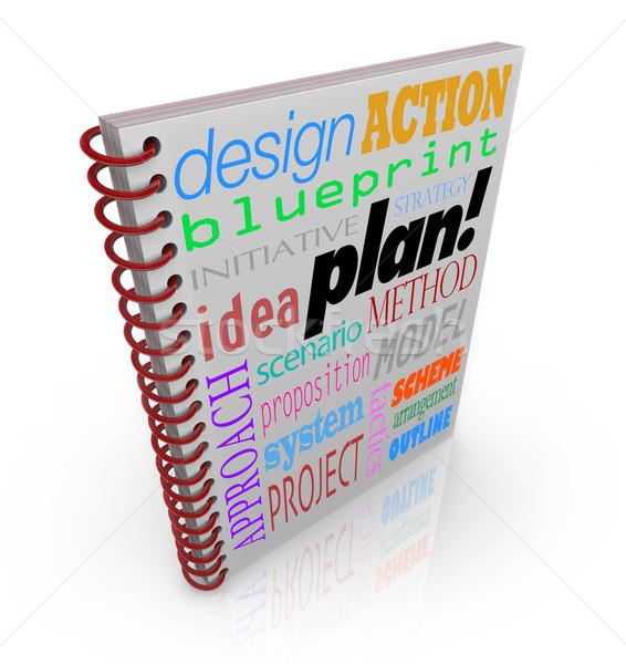 Piano strategia business pianificazione parole Foto d'archivio © iqoncept