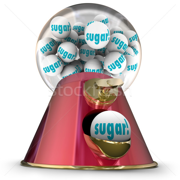 Sugar Gum Balls Candy Dispenser Bubblegum Tooth Decay Stock photo © iqoncept
