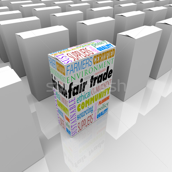 Fair Trade Best Product Competitive Advantage Many Boxes Package Stock photo © iqoncept