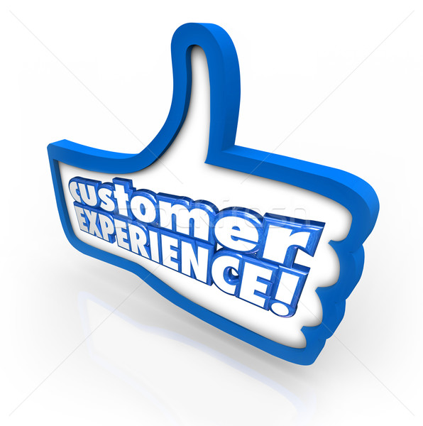 Customer Experience Thumbs Up Symbol Client Satisfaction Enjoyme Stock photo © iqoncept