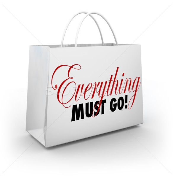 Everything Must Go Shopping Bag Going Out of Business Sale Stock photo © iqoncept