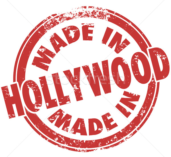 Made in Hollywood California Round Red Stamp Pride Stock photo © iqoncept