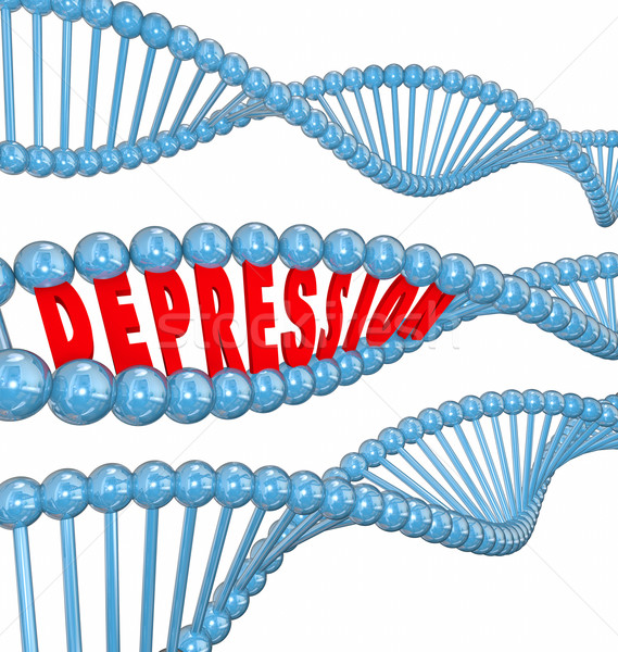 Depression Disease Mental Illness Word DNA Strand Hereditary Gen Stock photo © iqoncept
