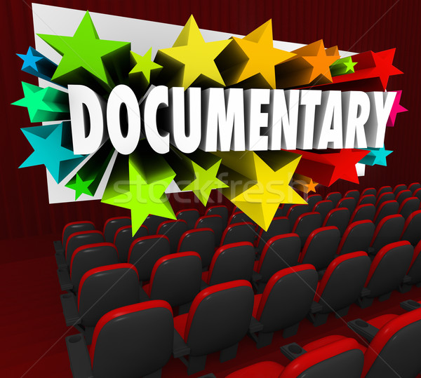 Documentary Word Movie Screen Non Fiction Story Film Cinema Stock photo © iqoncept