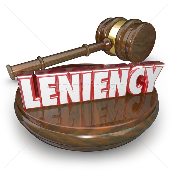 Leniency Word 3d  Letters Merciful Sentencing Legal Court Trial  Stock photo © iqoncept