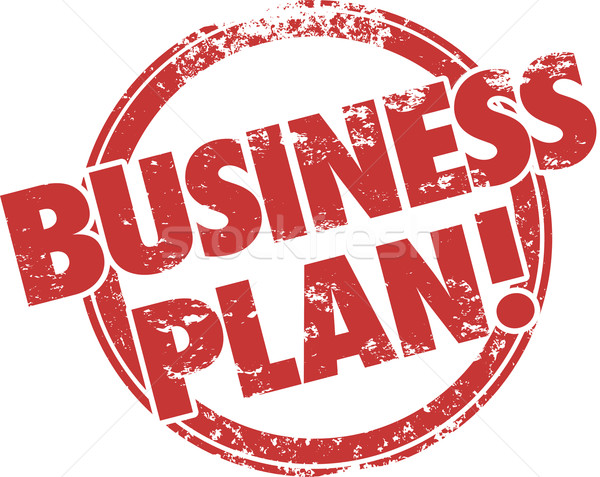 Business Plan Red Grunge Stamp Strategy Startup Company Mission Stock photo © iqoncept