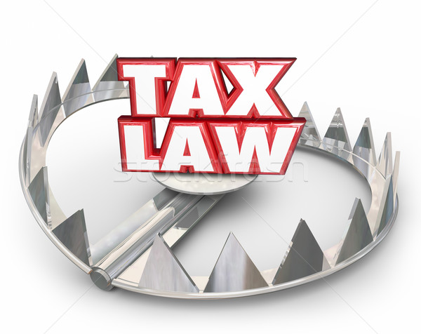 Tax Law 3d Red Words Bear Trap Legal Rules Regulations Stock photo © iqoncept