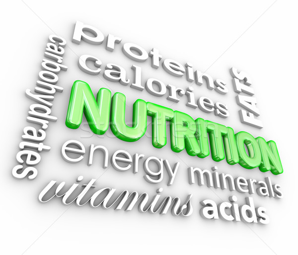 Nutrition Food Eating Health Proteins Vitamins Energy Stock photo © iqoncept