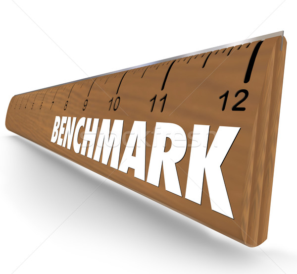 Benchmark Ruler Word Measure Difference Between Companies Compar Stock photo © iqoncept