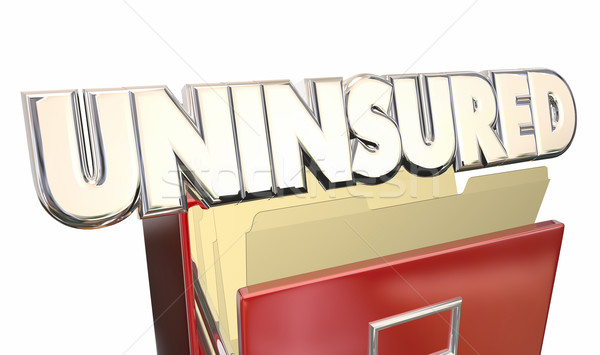Uninsured Medical Insurance Coverage Policy File Cabinet Stock photo © iqoncept