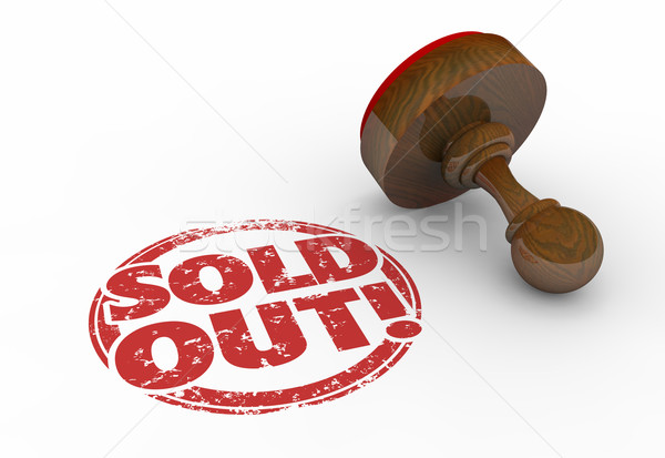 Sold Out Product Sellout Inventory Gone Stamp 3d Illustration Stock photo © iqoncept