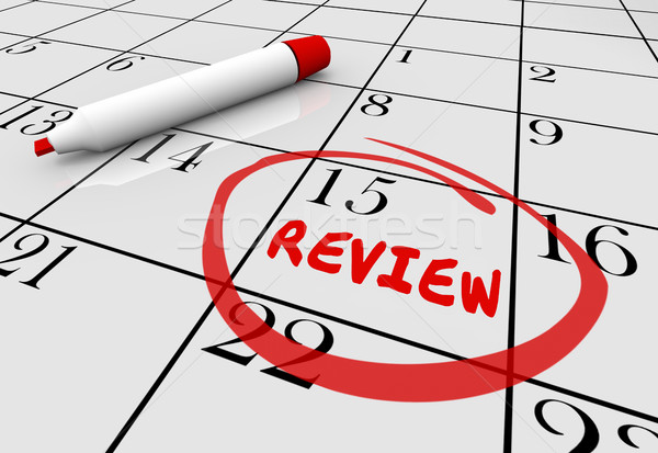 Review Evaluation Assessment Feedback Day Date Calendar 3d Illus Stock photo © iqoncept