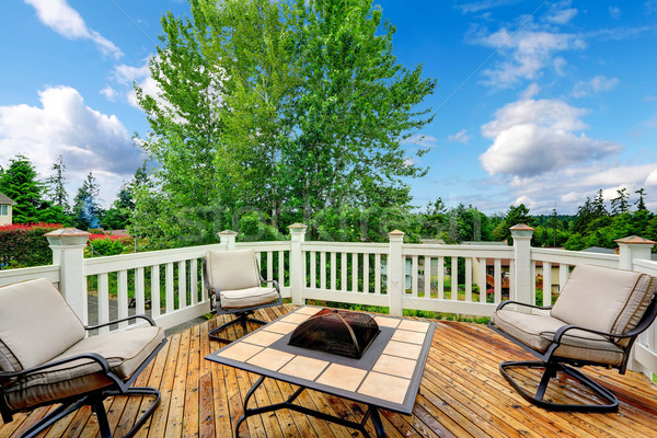 Walkout patio with sitting area Stock photo © iriana88w