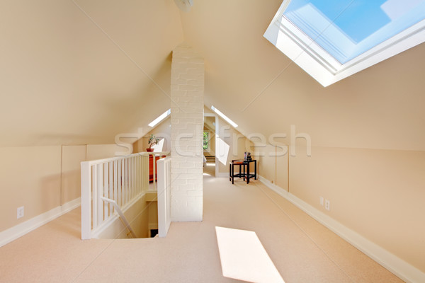 Bright clean attic in the small home. Stock photo © iriana88w