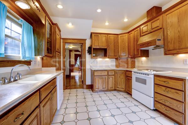 メイプル キッチン ルーム インテリア 広々とした 白 ストックフォト © iriana88w