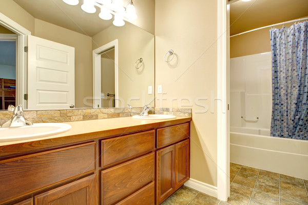 Bathroom washbasin cabinets Stock photo © iriana88w