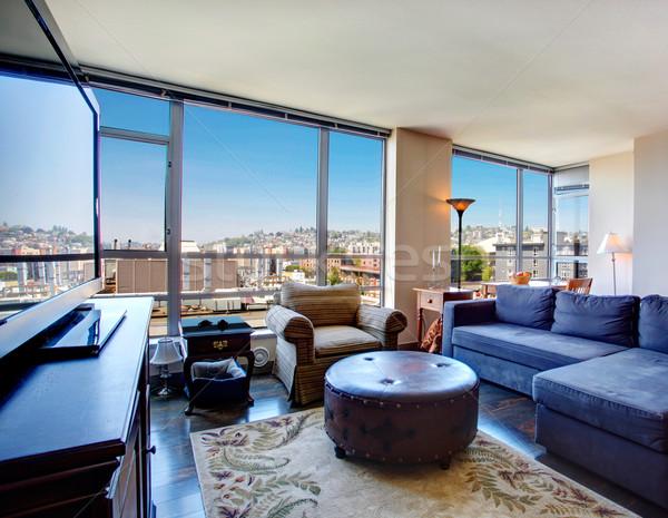 Modern city apartment living room. Stock photo © iriana88w