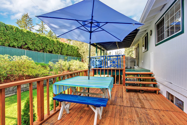 Back deck with stained wood. Stock photo © iriana88w