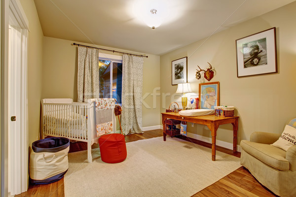 Nice baby room with hardwood floor. Stock photo © iriana88w