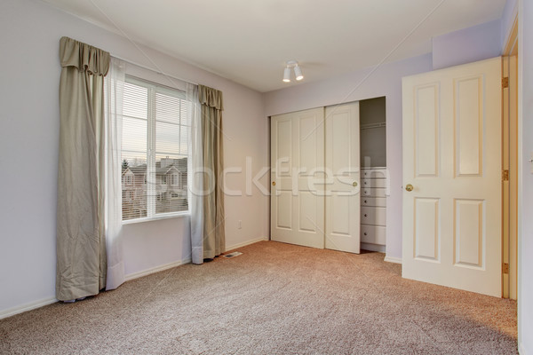 Simple unfurnished bedroom with closet. Stock photo © iriana88w
