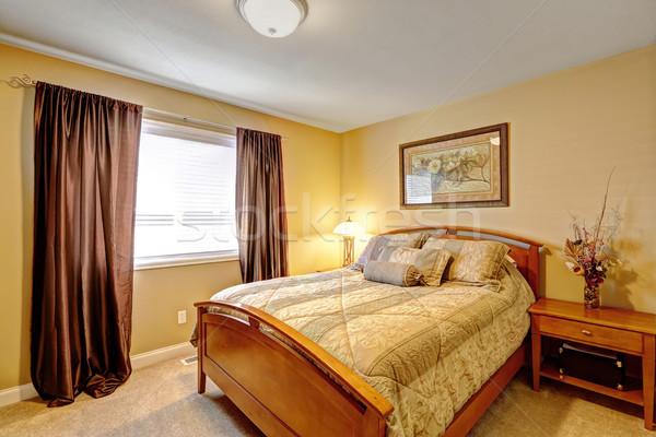 Warm bedroom interior in luxury house Stock photo © iriana88w
