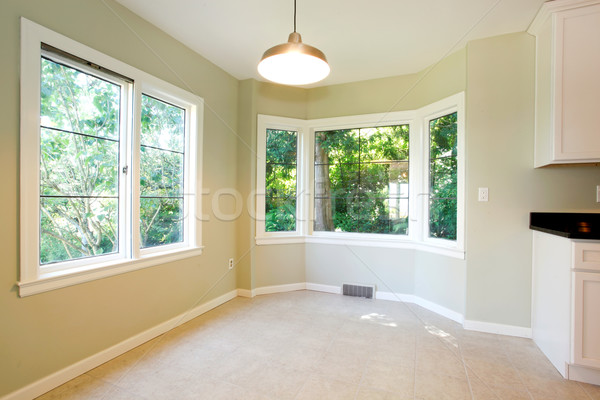 Pusty jadalnia jasne wnętrza Płytka piętrze Zdjęcia stock © iriana88w