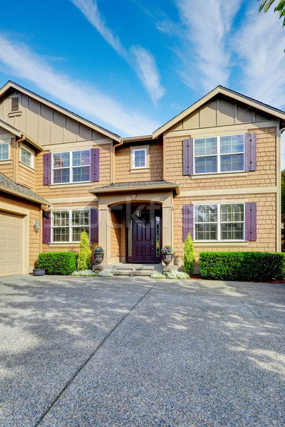 Luxury house exterior with purple elements Stock photo © iriana88w