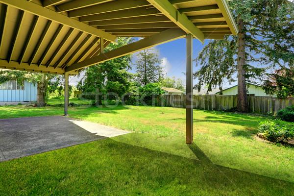 Backyard view from deck Stock photo © iriana88w