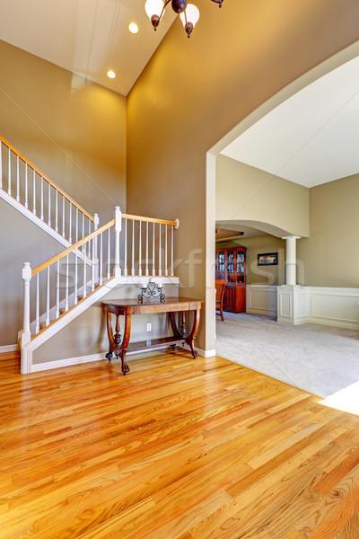 Luxury house interior. Foyer with staircase Stock photo © iriana88w