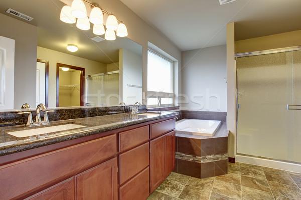 Elegante mestre banheiro telha piso grande Foto stock © iriana88w