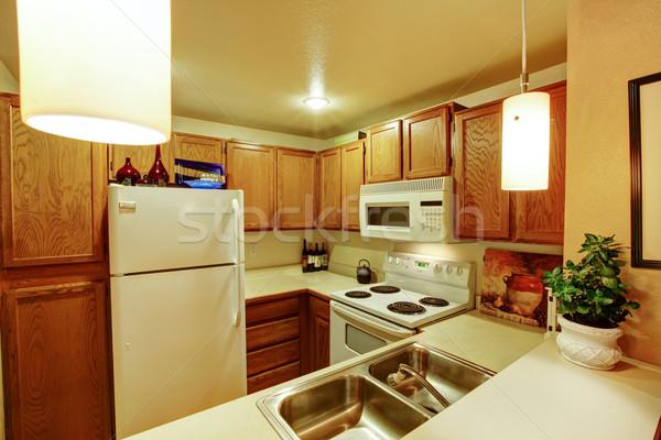 Сток-фото: небольшой · простой · кухне · комнату · мнение · раковина