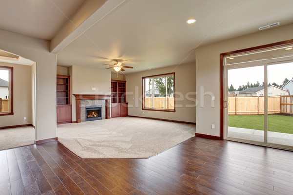 Bútorozatlan nappali szőnyeg kandalló fény otthon Stock fotó © iriana88w