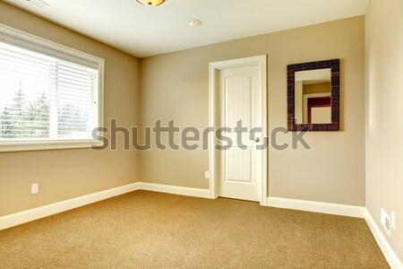 Vacío pasillo vidrio puerta vista Foto stock © iriana88w