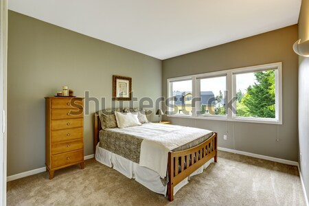Master bedroom interior with wooden furniture Stock photo © iriana88w