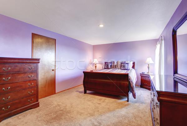 Perfect bedroom with purple theme. Stock photo © iriana88w