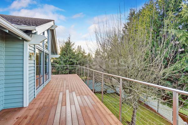 Groot gras Maakt een reservekopie dek huis Stockfoto © iriana88w