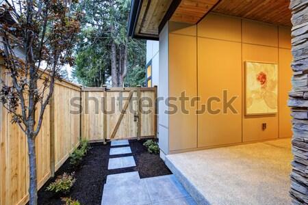 Simple rambler house exterior side. Stock photo © iriana88w