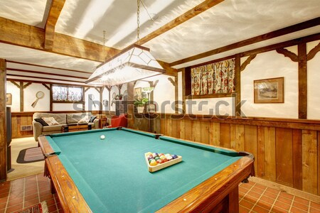 Authentique jeu chambre billard carrelage étage Photo stock © iriana88w